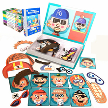 1pcs Magnetic Book Puzzle Cute Design Puzzles Toy Jigsaw Baby Toys Learning Spell Christmas Gift for Kids