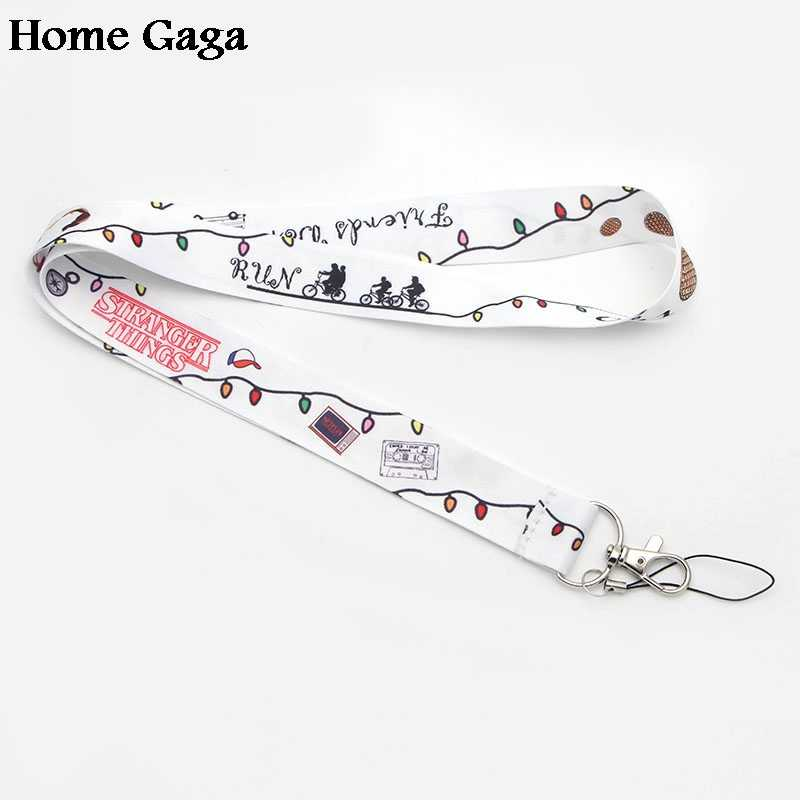 D0259 Homegaga New Arrival Stranger Things Lanyard for Key Phones USB Flash Drives Keys Keychains ID Name Tag Badge Holders