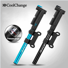Coolchange Mini Aluminum Alloy Bicycle Pump Portable Pump Cycling Inflator MTB Bike Inflatable Air Pump Cycling Accessories