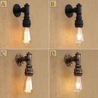 Free shipping water pipe vintage wall lamp for hallway/bedroom/living room/bar/cafe shop