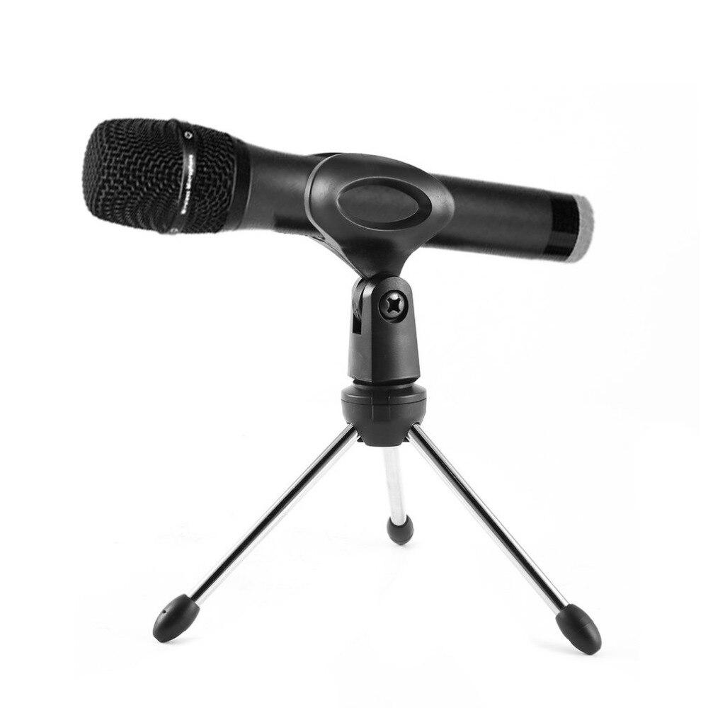 Professional Mini Desktop Microphone Stands Universal Adjustable Microphone Holder Mic Tripod Stand Desktop Bracket M-1
