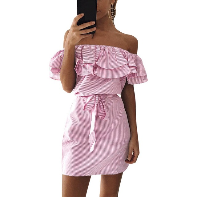 Strapless Summer Dress (4 Colors)