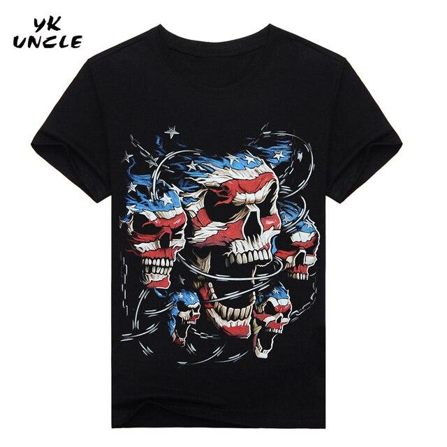 Hip Hop T shirt Men Tshirt T-shirt 3D Sickle Skulls Motorcycle Shackle Printed Casual-shirt Mens Casual Clothes Tee 3XL,YK UNCLE 4