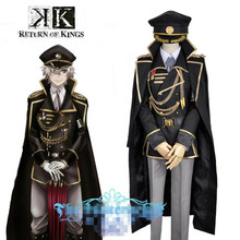 цена на New Anime K RETURN OF KINGS Isana Yashiro Cosplay Adult Costumes Black Uniforms Set+Cap Halloween Costumes for Women Men Custom