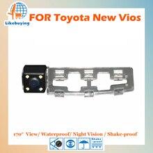 1/4 цветной ПЗС HD камера заднего вида/камера парковки/Обратный камера для Toyota НОВЫЙ VIOS ночного видения/ водонепроницаемый/светодиодные фонари