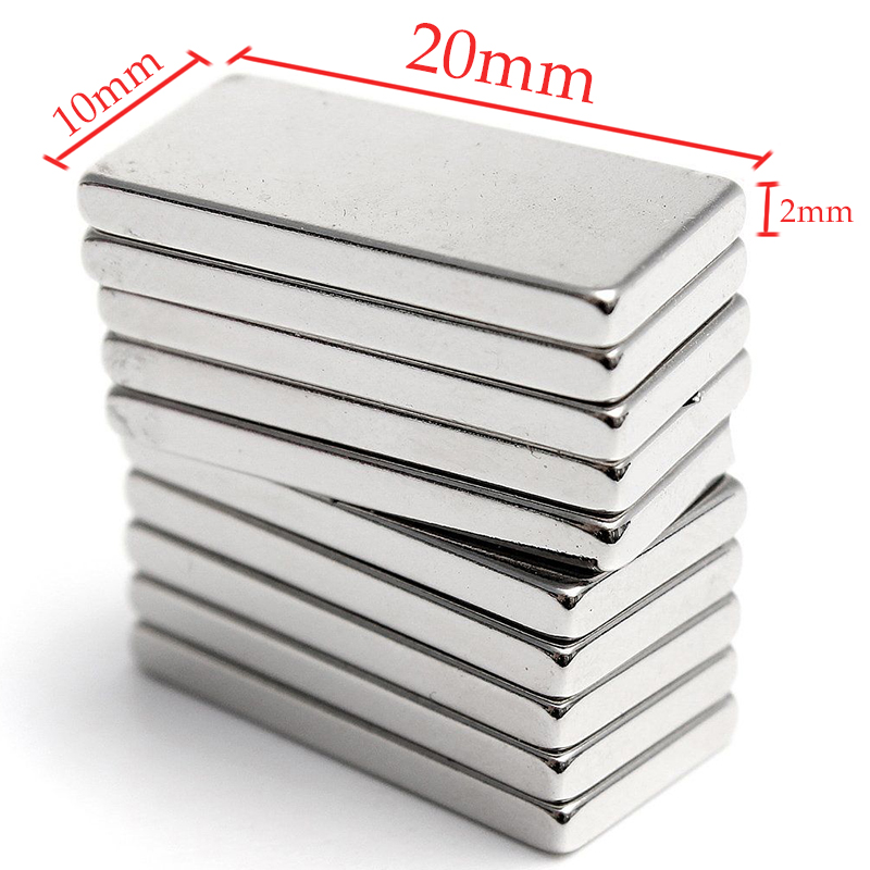 5pcs 20x10x2mm Super Strong Block Magnets Fridge Craft Rare Earth Neodymium N35 For Power Tool earth 2 vol 5