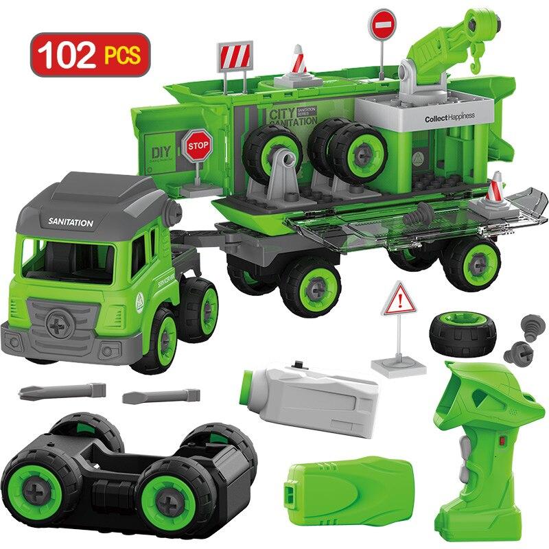 104 pièces département de la ville bricolage blocs de construction de grande taille avec lextérité Duploed Police ingénierie camion brique RC voiture jouets pour enfants