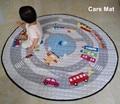 Fashion Cartoon Animals Fox City Cars Baby Multifunctional Play Mats Nonskid Crawling Rug Carpet Blanket Kids Toys Storage Bag
