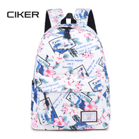 CIKER Casual Women Flower Printing Backpack School Air Cushion Straps For Bags Korean Large Capacity Laptop