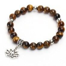 Tiger Eye Natural Stones Flower Beaded Bracelets For Women Men Boho Friendship Animal Bead Yoga Bracelets & Bangles 2018 New