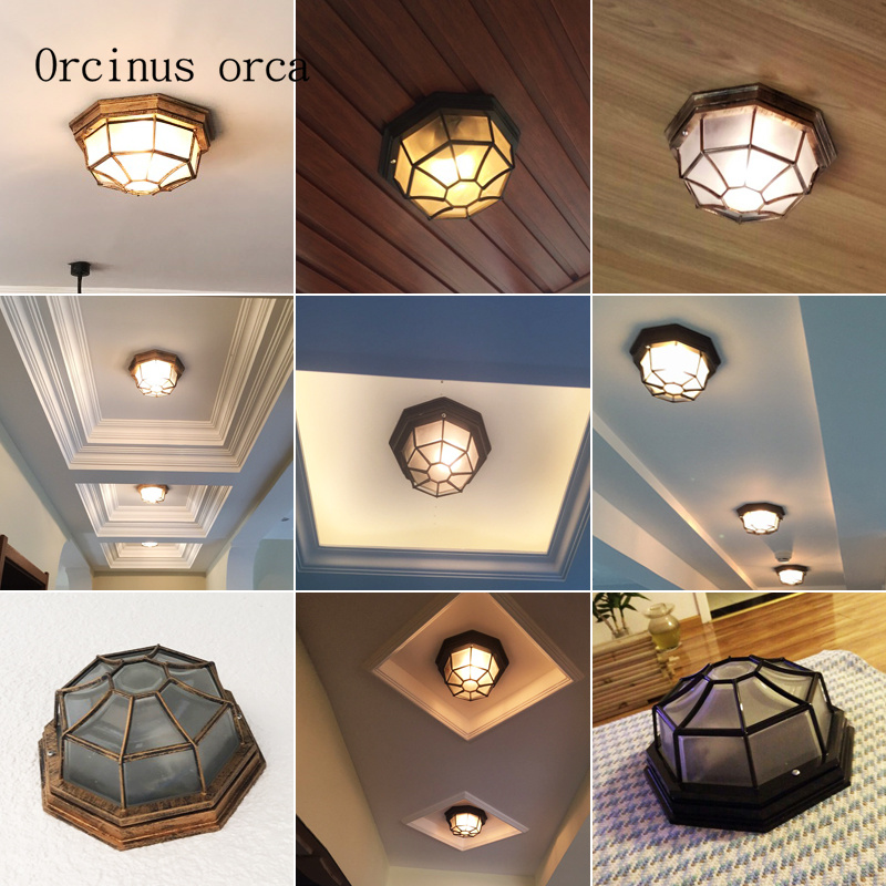 American retro industrial wind ceiling lamp  balcony corridor bathroom European style originality led ceiling lamp free shippingAmerican retro industrial wind ceiling lamp  balcony corridor bathroom European style originality led ceiling lamp free shipping