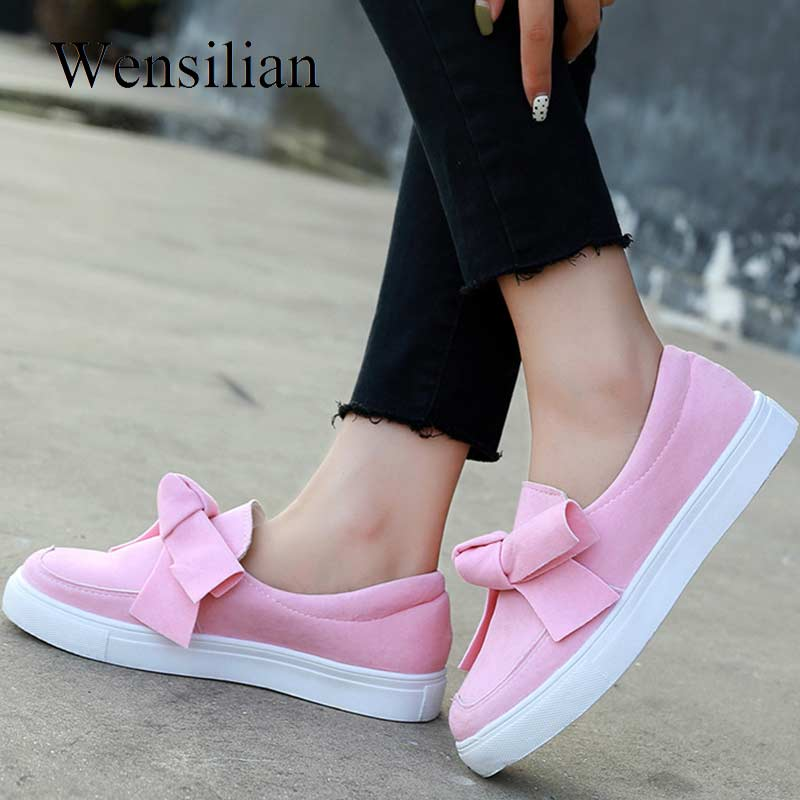 Casual Shoes Women Sneakers Trainers Butterfly-Knot Canvas Shoes Spring White Platform Sneakers Flats Zapatillas MujerCasual Shoes Women Sneakers Trainers Butterfly-Knot Canvas Shoes Spring White Platform Sneakers Flats Zapatillas Mujer