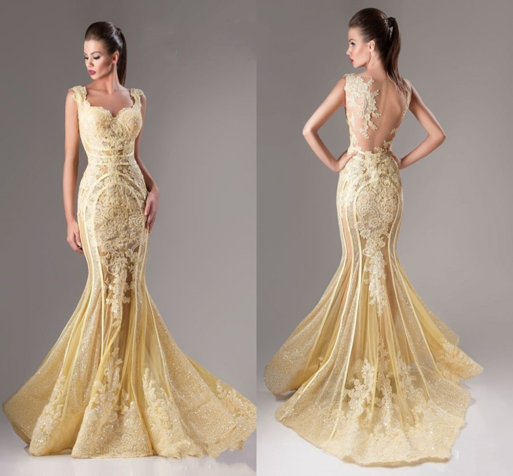 Compare Prices on Sexy Backless Yellow Mermaid Dress- Online ...