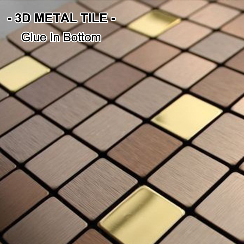 Mosaic tile glue reviews online shopping mosaic tile for Plaque decorative adhesive alu inox metal