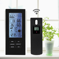 Indoor Outdoor Blue LED Digital Wireless Weather Station Sensor Temperature Humidity Barometer RCC With Temperature Frost