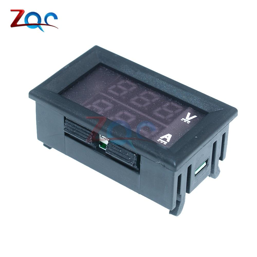 HTB1pwbojDTI8KJjSsphq6AFppXaY 0.56 inch Mini Digital Voltmeter Ammeter DC 100V 10A Panel Amp Volt Voltage Current Meter Tester Blue Red Dual LED Display