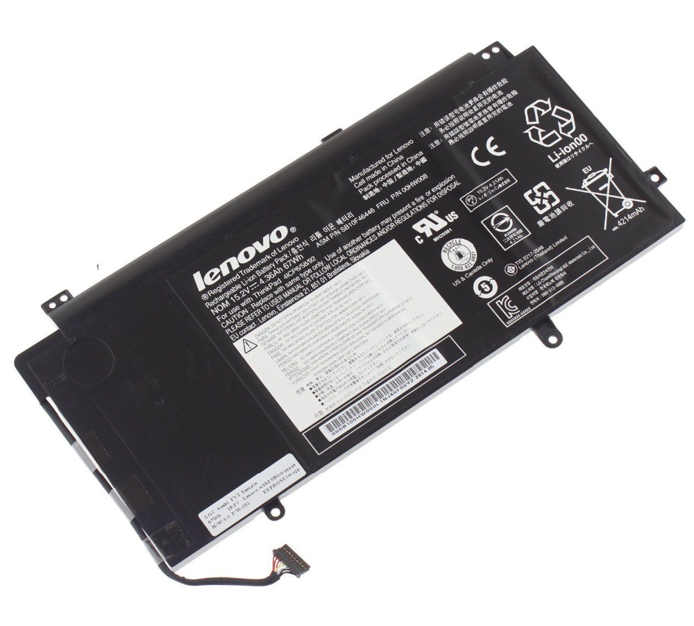 ФОТО New Genuine Original FRU 00HW008 Battery for Lenovo Thinkpad ASM P/N SB10F46446 4ICP6/58/92