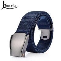 Fashion BrandMen Canvas Belt Metal Tactics Woven Belt Canvas Belt Casual Pants Cool Wild Gift For