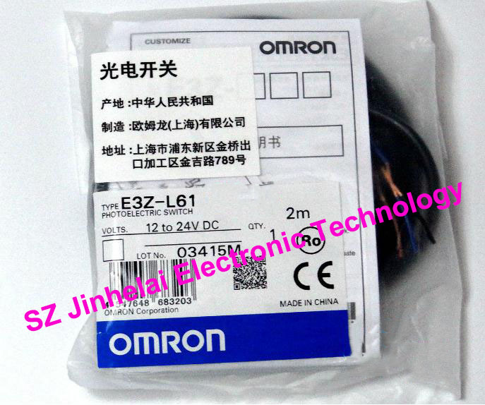 100% New and original  E3Z-L61  OMRON   Photoelectric sensor   Photoelectric switch  2M 12-24VDC new and original e3t st21 omron photoelectric switch 2m 12 24vdc photoelectric sensor