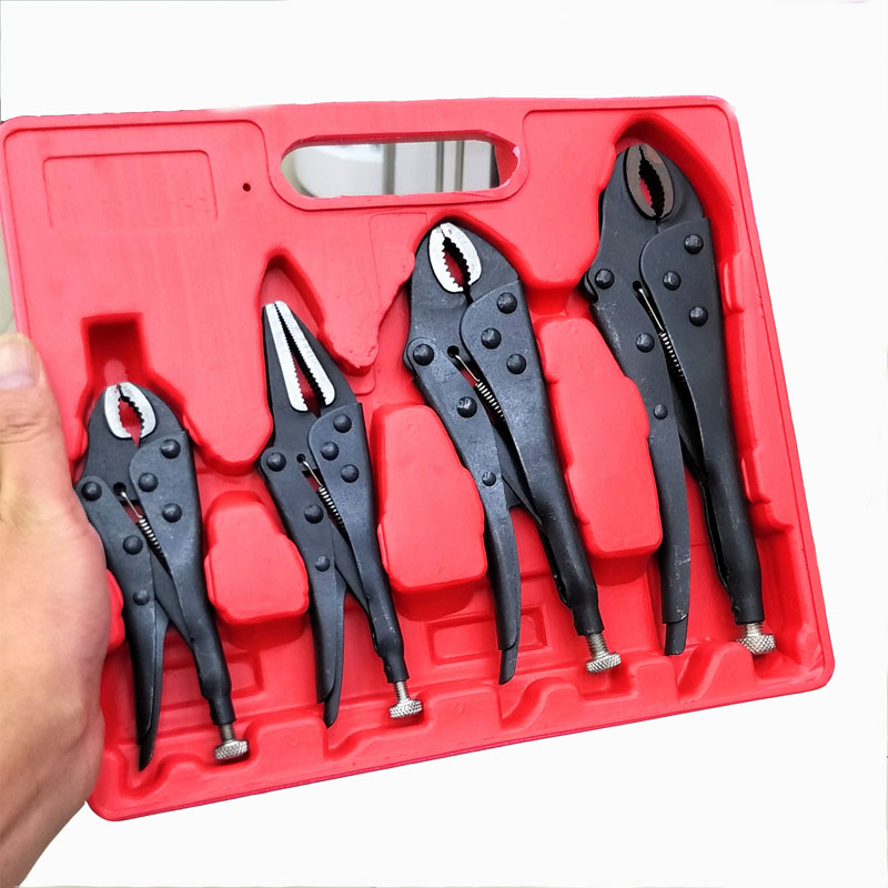 4pcs/set Multifunction locking pliers lock wrench vise grip pliers Forceps and fixture suit цена