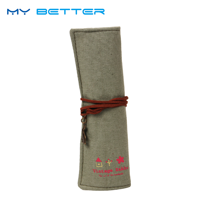 купить Professional Cosmetic Brush Bag Roll Pouch Printing Toiletry Bag Canvas Make Up Bag 11 Slots по цене 57.12 рублей