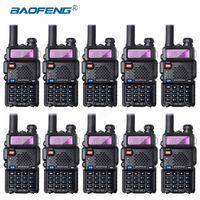 10Pcs Bao Feng UV 5R Walkie Talkie Wholesale Baofeng UV5R CB Radio VHF UHF Dual Band Two Way Radio 5W Ham Radio Spain Germnay