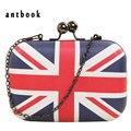 freeship New 2016 fashion UK England flag printing women clutch / vintage messenger mag shoulder bag / pu leather handbags bolsa
