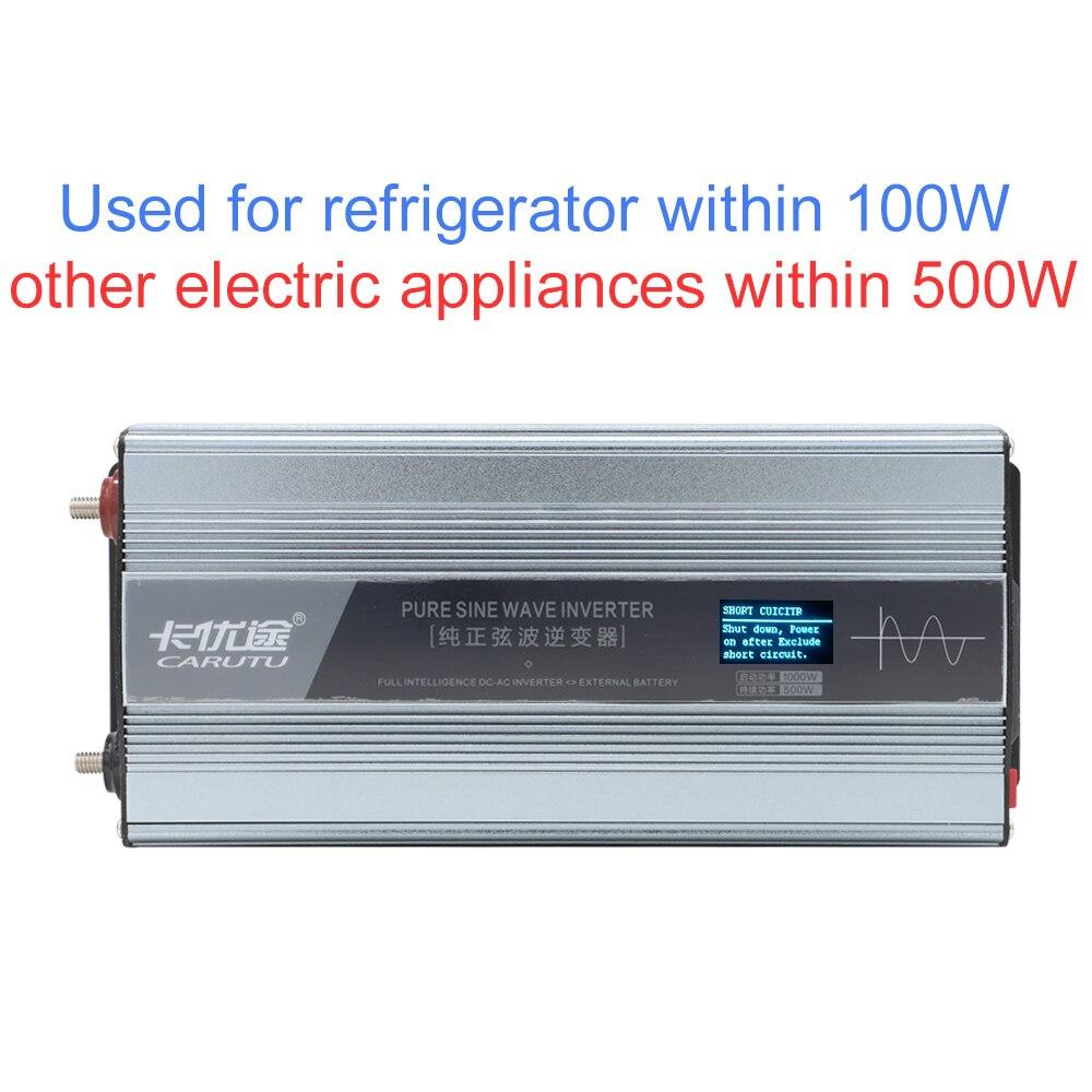 Superior completo sustentar 500 w onda senoidal pura inversor solar 12 v 220 v 230 v com instruções de falha display e proteção de fio reverso