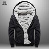 LBL hiver hommes polaire veste épais solide Bomber vestes hommes Slim Fit manteau à capuche homme automne chaud survêtement nouveau hommes Sportswear