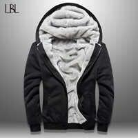 LBL hiver hommes veste polaire épais solide Bomber vestes hommes coupe ajustée à capuche manteau homme automne chaud survêtement nouveaux hommes vêtements de sport