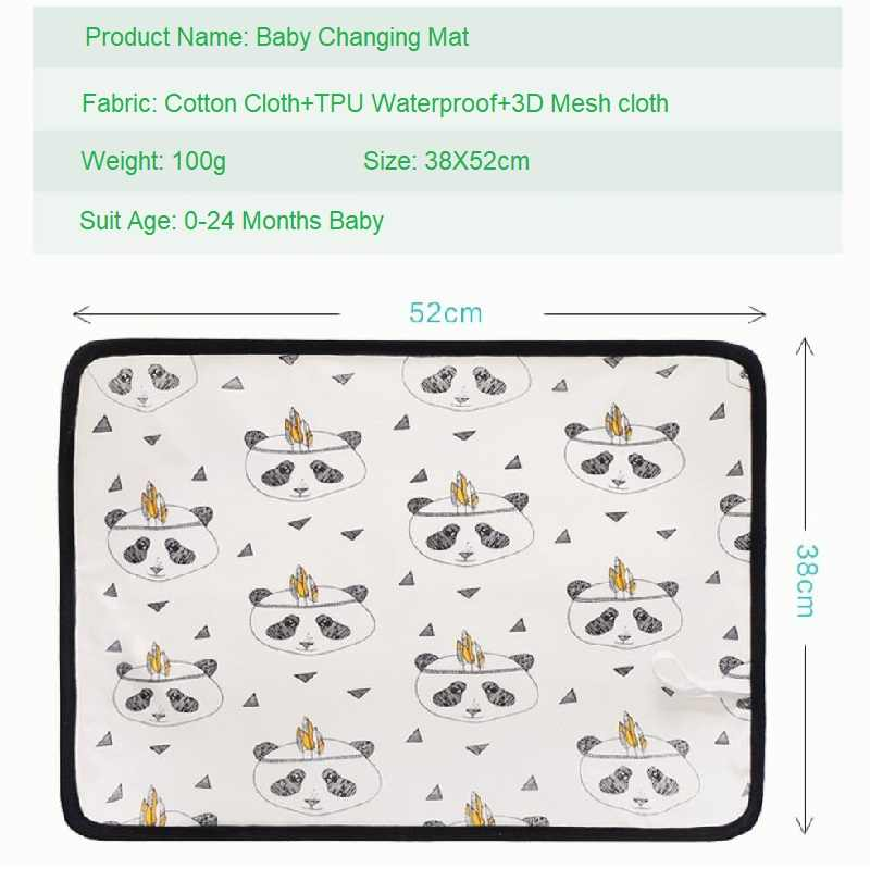 Changing Mat Baby Diaper Portable Nappy Pad Waterproof Bed Sheet Clutch Infant Change Cover Incontinence Pads Table Accessories