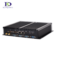Small computer 2GHz up to 3.0GHz Fanless mini desktop PC Core i7 5550U Dual Core LAN WIFI 2*HDMI 6*RS232 COM industrial computer