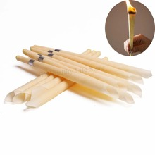 10pcs Ear Candle Cleaner Indiana Hopi Natural Beeswax Candles Wax Coning Cleaning Face Lift Tool Healh Care