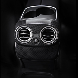 Image 3 - Carbon Fiber Auto Hinten Air Conditioner Outlet Vent Abdeckung Trim Für Mercedes E Klasse E200 E320 E260 E300 E350 Auto zubehör