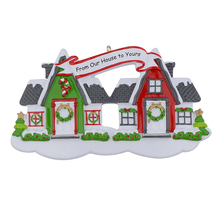 Neihbours House Glossy Christmas Tree Ornaments Free Write Name As Personalized Gifts For Home Holiday Party Decorations
