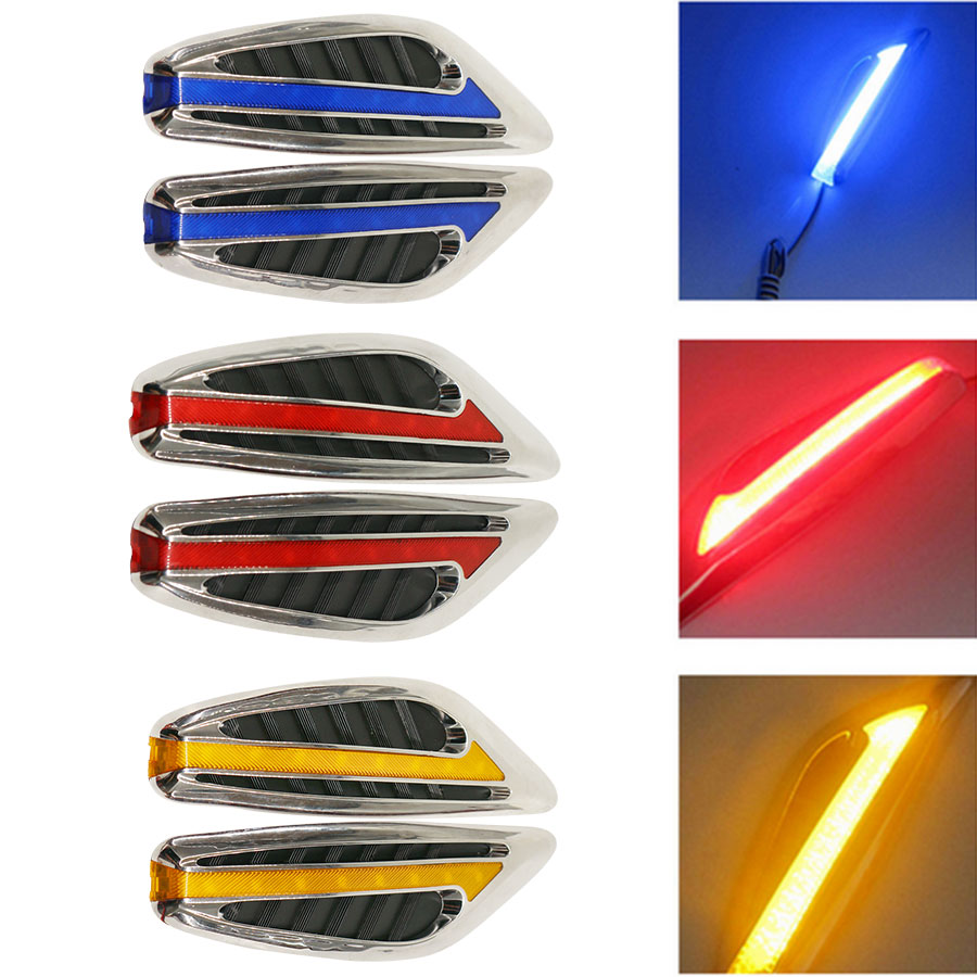 Auto LED Light Steering turn signal Fender Car Side Lamp Blade Shape daytime running Turn Signal Car Lights Red White Blue Amber 1pair led side maker lights for jeeep wrangler amber front fender flares parking turn lamp bulb indicator lens