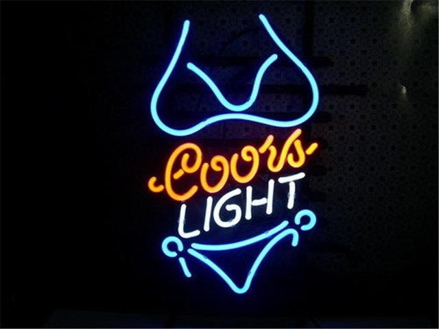Neon sign for coors light purple bikini signboard real glass beer neon sign for coors light purple bikini signboard real glass beer bar pub display outdoor light aloadofball Choice Image