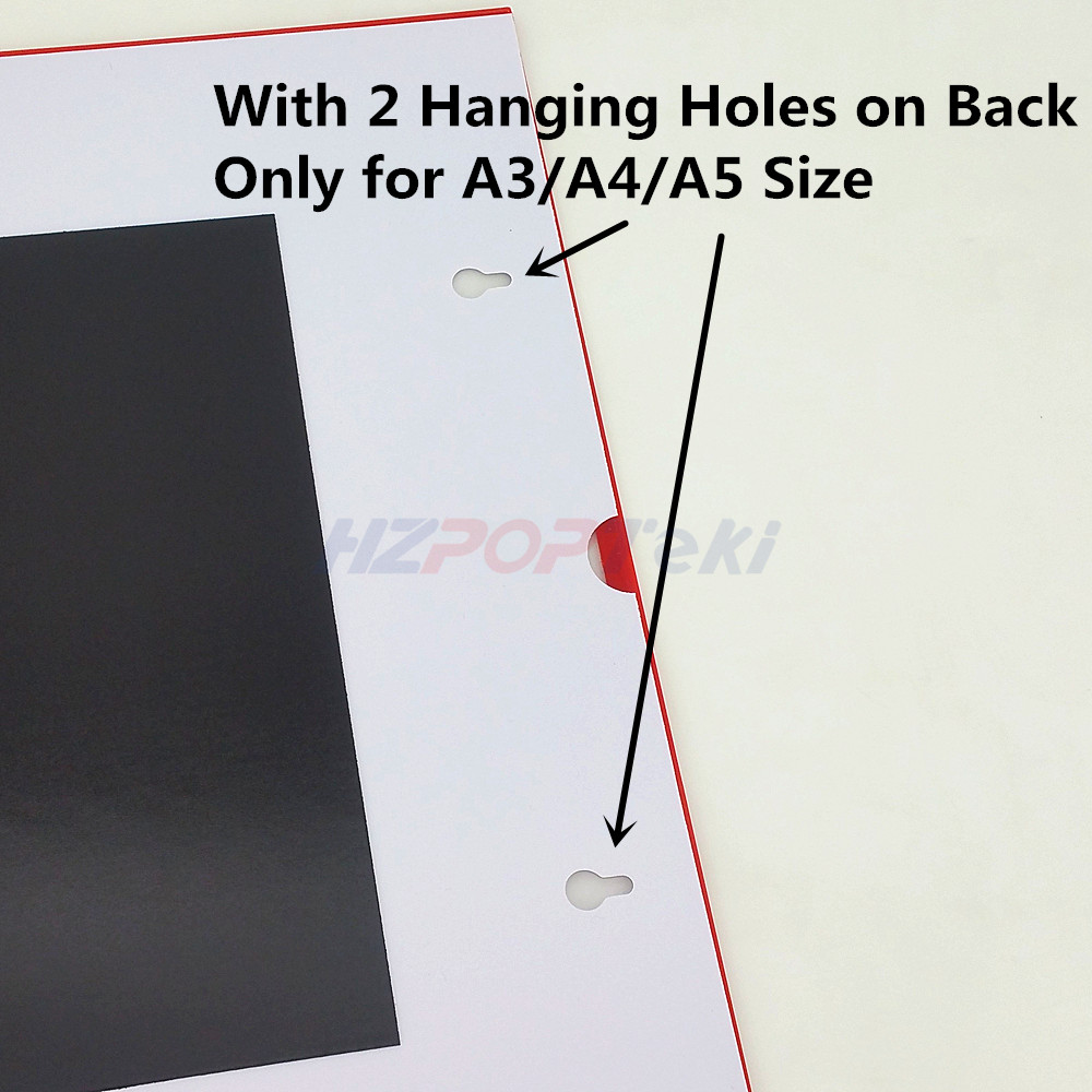 A4 Sticked By Tape On Back Plastic Pop Paper Sign Card Label Display Show Case Frame On Retail Store Shelf Promotion 400pcs Filing Products File Folder