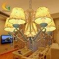 Pastoral lustres lustre de cristal moderna sala de estar sala de jantar Princesa menina Quarto conduziu a luz