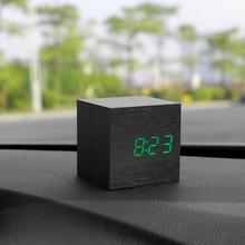 Автомобиль украшения часы термометр Дата 3 в 1 Dashboard украшения Дерево будильник автомобильной Декор интерьера, аксессуары