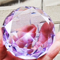 6cm Mixed Farbe Shinning Kristall Diamant Briefbeschwerer Glas Fengshui Handwerk Wohnkultur DIY Geburtstag Hochzeit Geschenk Party Souvenir-in Figuren & Miniaturen aus Heim und Garten bei