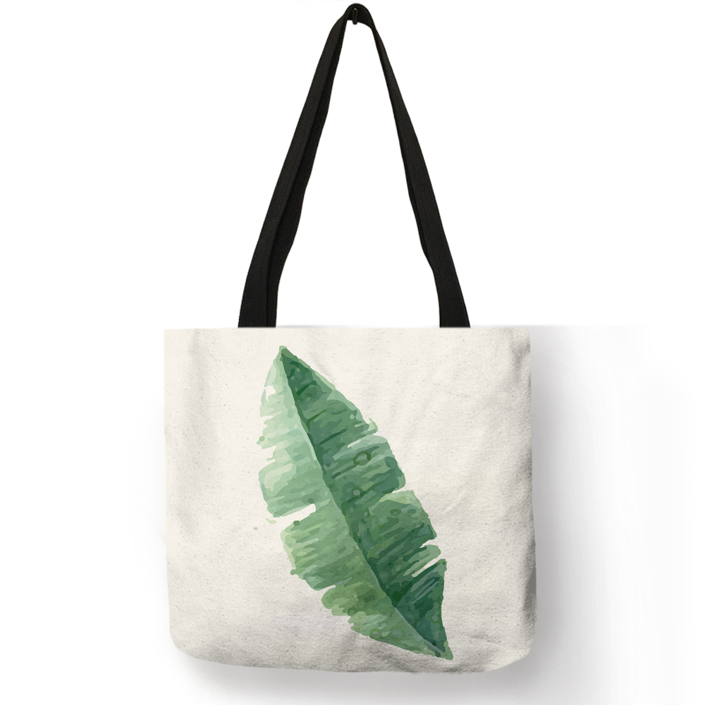hot-monstera-deliciosa-element-tote-bags-for-women-reusable-shopping-bags-fabric-handbags-customized-travel-totes