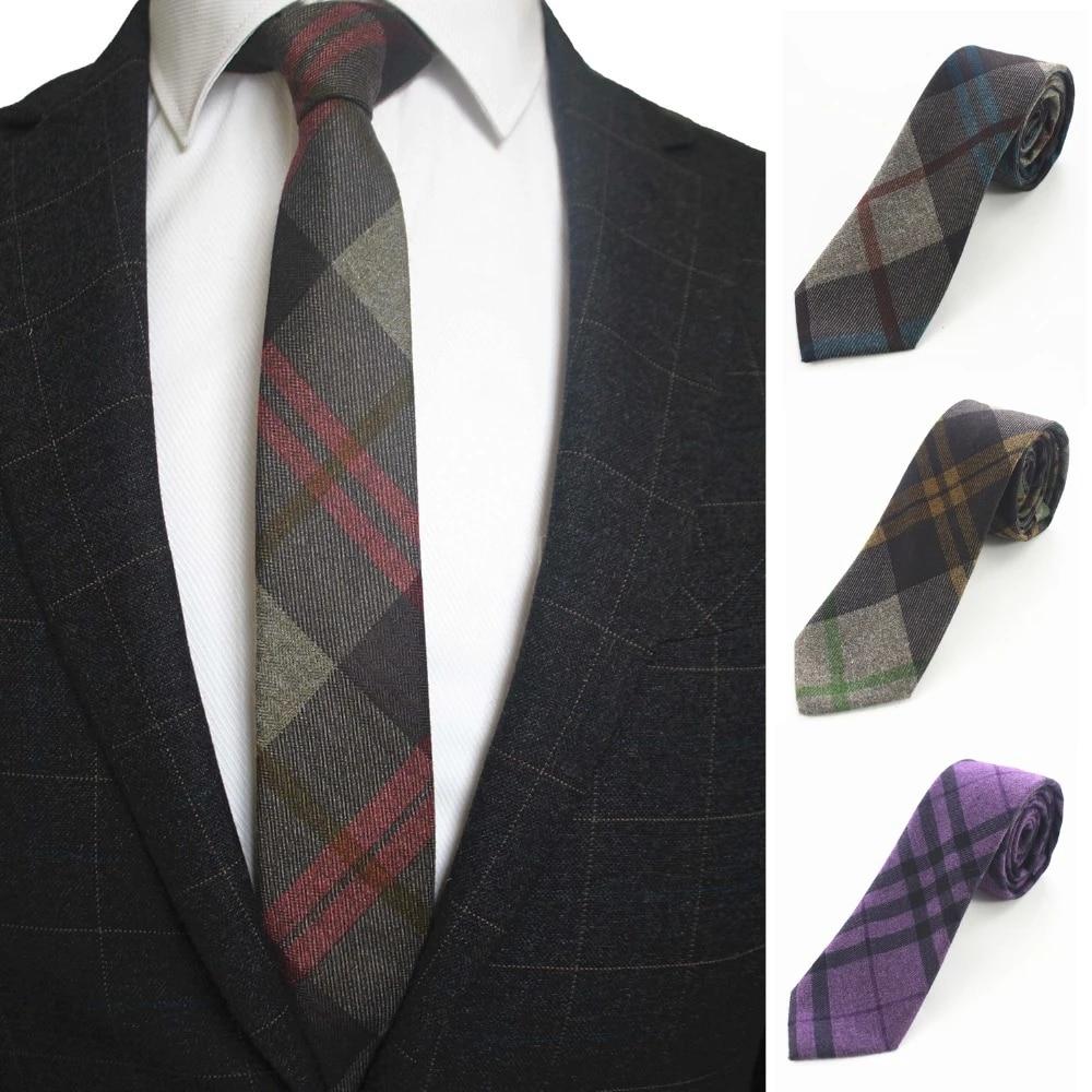Plaid Pattern Men/'s Necktie Fashionable Formal Neck Slim Skinny Suit Accessories