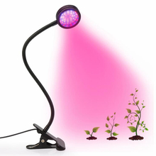 6W Full Spectrum UV IR Led Lamp 3 Switch and 360 Degree Flexible Gooseneck for Indoor Plants Seedling Growing Blooming Fruiting
