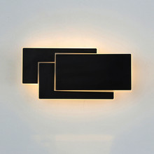 Thrisdar Creative Personality Bedside LED Wall Lamp Modern Square Rotatable Light Hotel Aisle Corridor Lamps