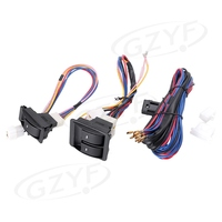 Universal Auto Car Electric Window Control Switch Kit With Wiring Harness 12V