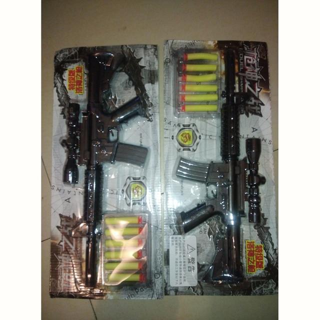 M4A1 Submachine Assault rifle plastic toy nerf guns + 6 EVA foam bullets  costume for children