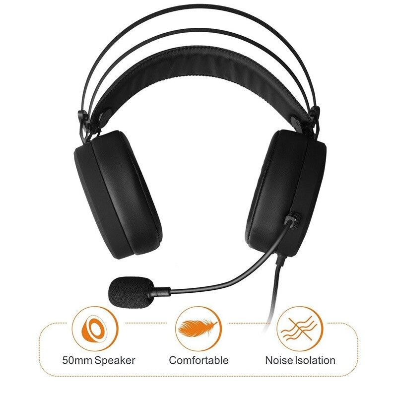 FELYBY N7 casque filaire casque Gaming casque musique caisson de basse haute qualité avec Microphone casque pour téléphone - 5