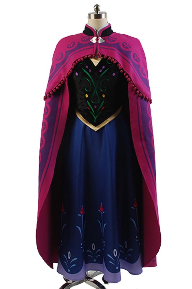 2017 princess anna elsa princess font b dress b font princess anna costume adult snow grow