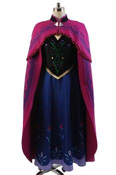 Princess Anna Elsa Princess Dress Princess Anna Costume Adult Snow Grow Princess Anna Cosplay Costume for Halloween Women Sets
